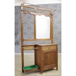 Garderoba secesyjna - wieszak z lustrem z początku XX w. 5531