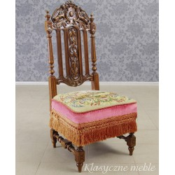 Krzesło Klęcznik z XIX w. Mebel po renowacji. 5552